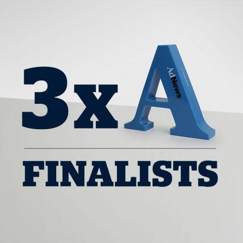3 x AdNews Awards Finalists.